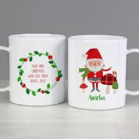 Christmas Toadstool Santa Plastic Mug - personalised gift ideal for any young child this Xmas